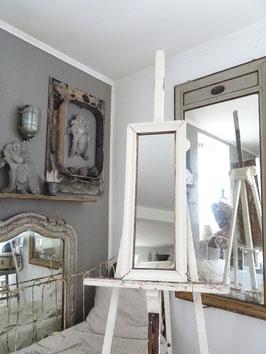 75cm antiker Spiegel - alter weißer Lack