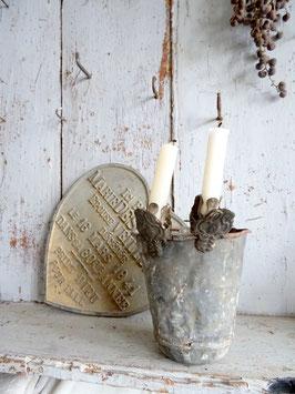 antiker Kerzenhalter WAPPEN