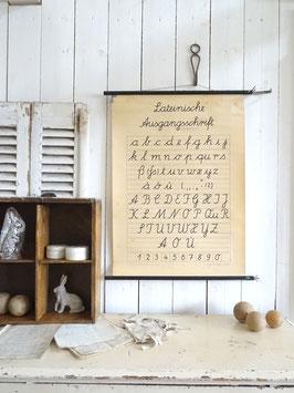 Lateinische Ausgangsschrift - sehr alte Schulwandkarte