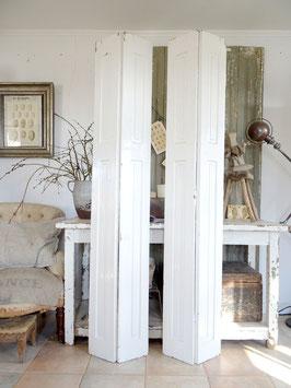 1x A VERKAUFT Seb 29.06.   198m sehr alter Fensterladen - weiss - tolle Patina