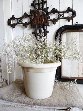 antiker Cachepot weiße Keramik