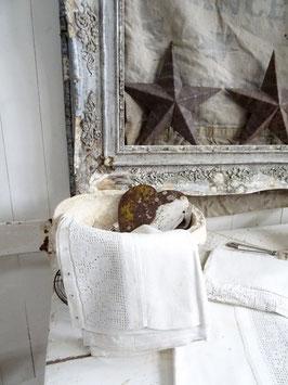 antikes Leinen Kopfkissen zum binden