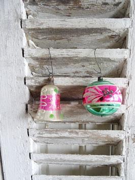 2erSET uralter Baumschmuck rosa