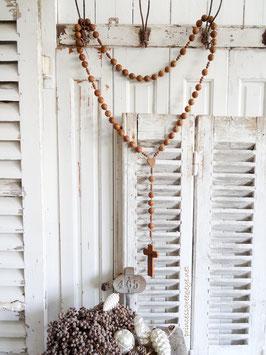 UrAlter Rosenkranz aus Frankreich braune Perlen (2)