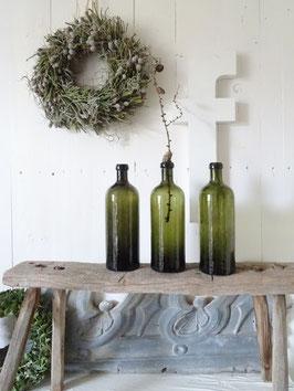 antike Flasche SAXLEHNERS BITTERQUELLE Tannengrün