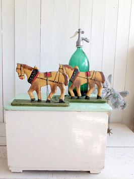 antike Ziehpferde Spielzeugpferde