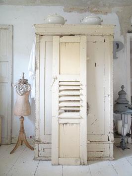172cm alter Fensterladen mit Lamellen - geniale Patina I