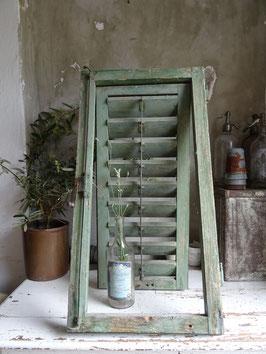VERKAUFT Wad 03.07. antiker Klappladen Fensterladen grün - sensationelle Patina II