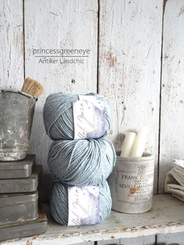 wool/cotton blend - SOFT BLUE BLASSBLAU von JEANNE D'ARC LIVING