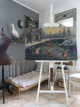 VERKAUFT LeD 15.11.   WINTERSEE uraltes imposantes Gemälde FR GAISSERT