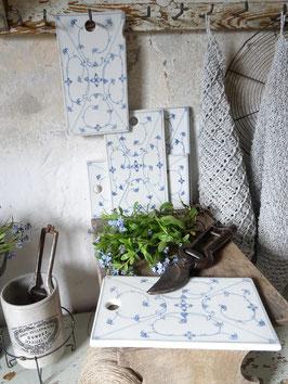 Schneidebrett - antik - blaues Dekor - Porzellan