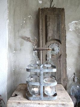 Uralter 4er Flaschenträger aus Frankreich III