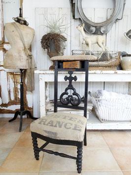 antiker Betstuhl aus Frankreich POSTES FRANCE
