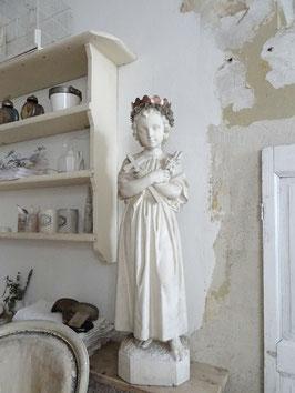 VERKAUFT Höp 12.02.   104cm antike Statue JESUSKND aus Belgien