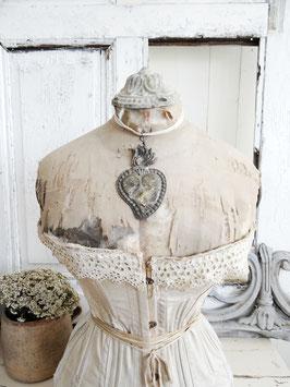 EX VOTO antikes Votiv-Herz aus Silber