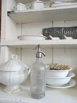 antike Sodaflasche aus Frankreich - FARBLOS - STRASBOURG
