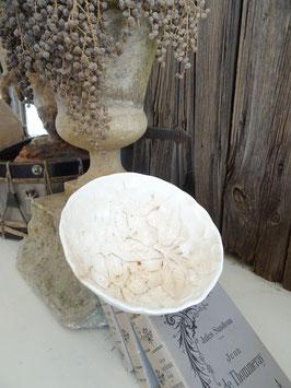 KIRSCHEN antike Puddingform weiße Keramik MAX RÖSSLER