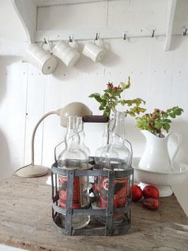 Uralter 4er Flaschenträger aus Frankreich