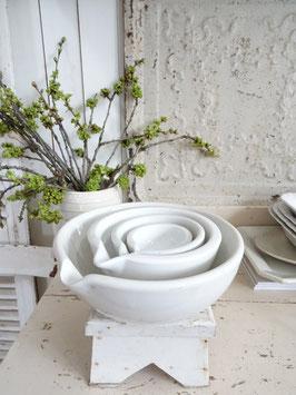 Antike Apothekerschüssel weißes Porzellan