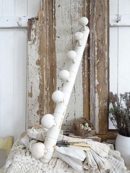 81cm uralte Hakenleiste weiß aus Frankreich
