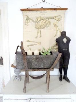 VERKAUFT Kat 14.04.   antike Metalltasche aus Frankreich - ein Traumteil
