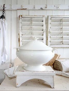 oval antike Terrine weiße Keramik REGOUT MAASTRICHT
