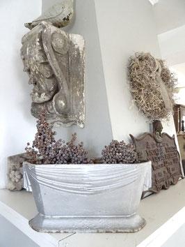 antike GROSSE Jardiniere aus Frankreich - silber