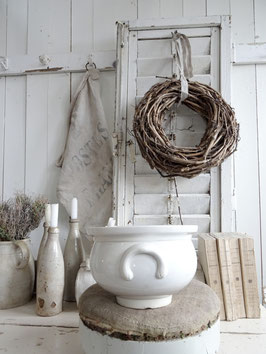 antike franz Terrine weiße Keramik