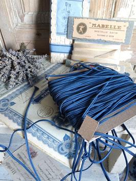 10m uraltes franz Paspelband blau