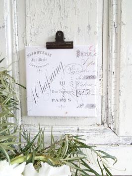 PARIS französische Rechnung Leinwanddruck
