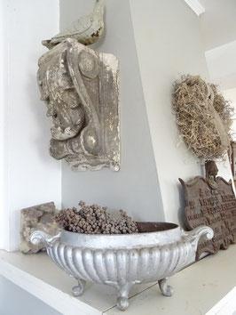 antike GROSSE Jardiniere aus Frankreich - silber oval