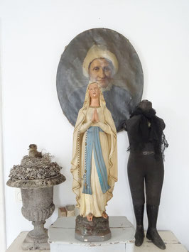 VERKAUFT Pia 18.04.   61cm antike LOURDES Madonna