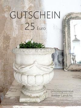GUTSCHEIN 25,-- EURO