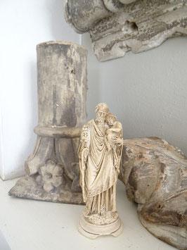 uralte Heiligenfigur - Vater & Sohn