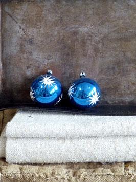 2erSet Baumkugeln  Blau