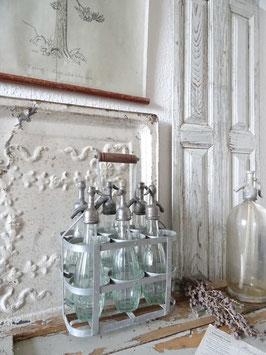 Uralter 6er Flaschenträger aus Frankreich III