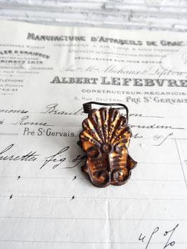 antiker Kerzenhalter ROCAILLE MUSCHEL bronze