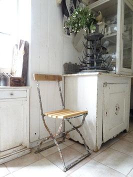 Sehr alter stabiler Klappstuhl Gartenstuhl - grandiose Patina - restauriert