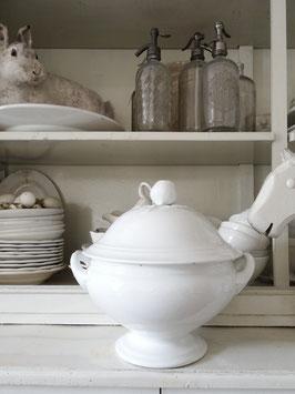 PETRUS REGOUT IMPOSANTE antike Terrine weiße Keramik