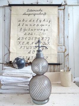 VERKAUFT Dis 31.12. 45cm antike Doppelbauch Sodaflasche aus Frankreich