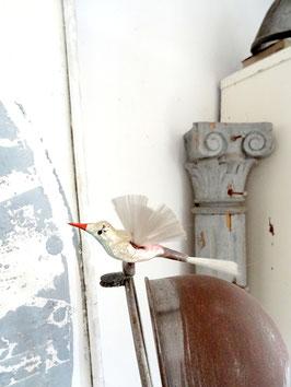 Glasvogel uralt mit Flügeln Pastelltöne mehrfarbig