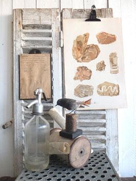 antike Lithografie GESTEINE  aus Wien