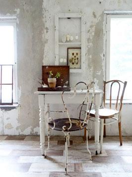 VERKAUFT LeD 31.03.   antiker Tisch Schreibtisch alter weißer Lack - Shabbychic pur