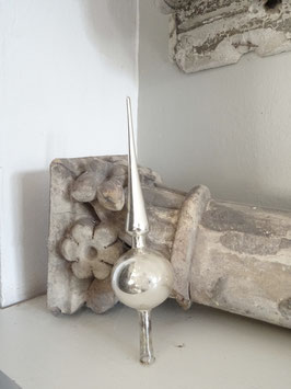 23cm uralte Baumspitze silber