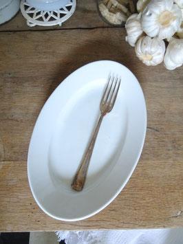 28cm antike Platte - weißes Porzellan