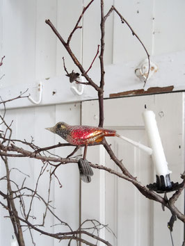 Glasvogel antik mehrfarbig bezuckert