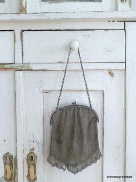 bezaubernde Handtasche 800er Silber gepunzt Jugendstil - traumhafte Patina