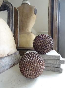 antike BOULE Kugel aus Frankreich - genagelt - Spitzkopfnägel