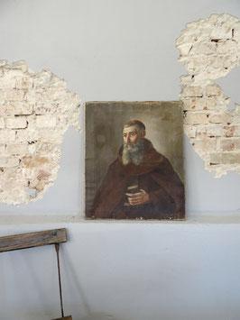 VERKAUFT Tho 22.09.  66x55cm antikes Portrait MÖNCH