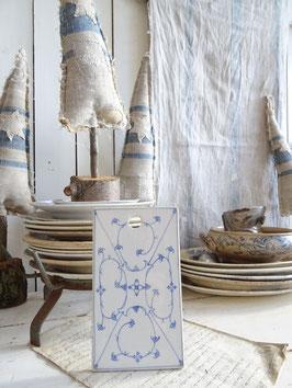Schneidebrett - antik - blaues Dekor - Porzellan   II